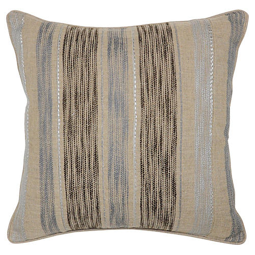 Jillian 22x22 Linen Pillow, Charcoal