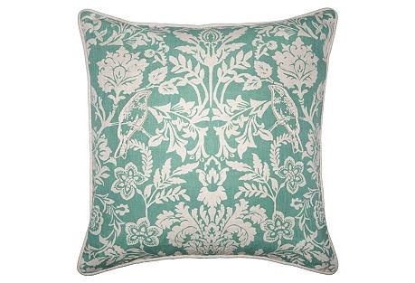 Belinda 22x22 Pillow, Teal