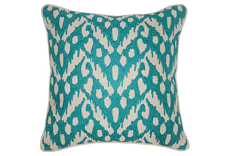 Lucy 18x18 Pillow, Teal