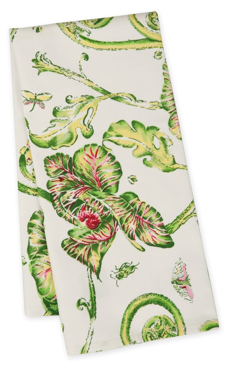 S/12 Kitchen Towels, Cabbage