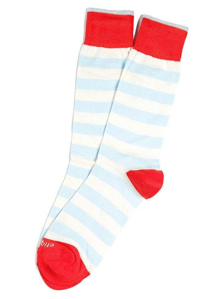 S/2 Men's Rugby Stripe Socks, Cream