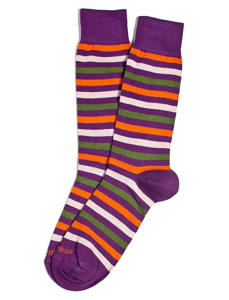 S/2 Women's Crosswalk Socks, Purple