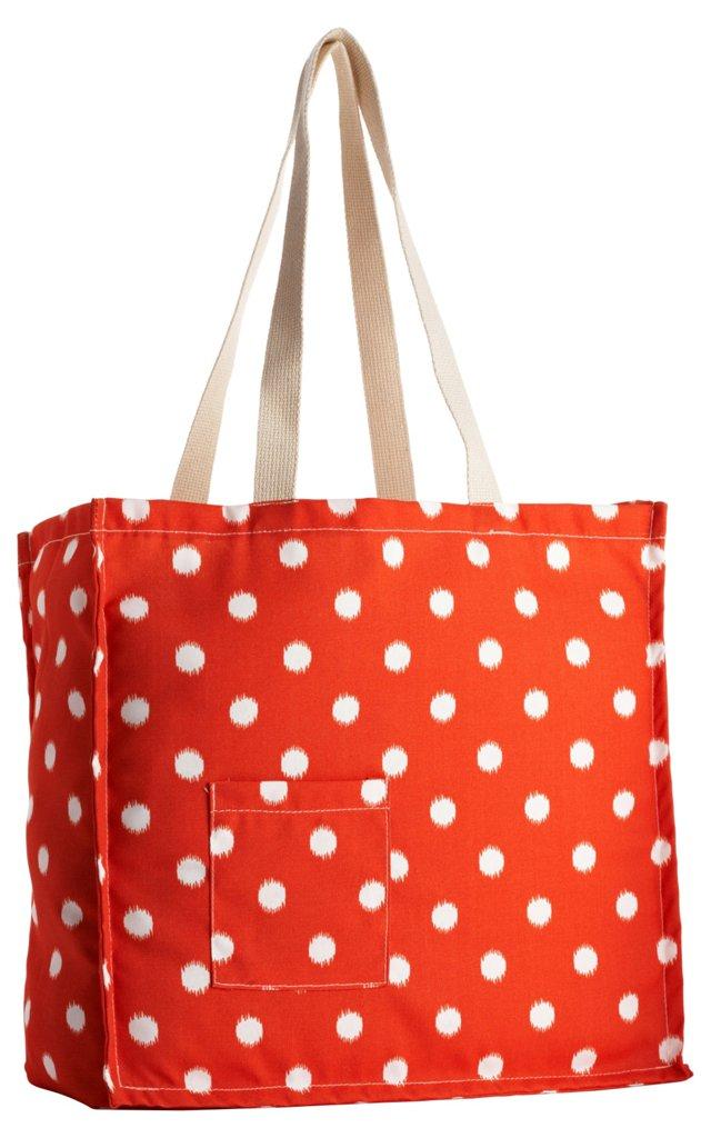 Polka Dot Tote Bag, Orange