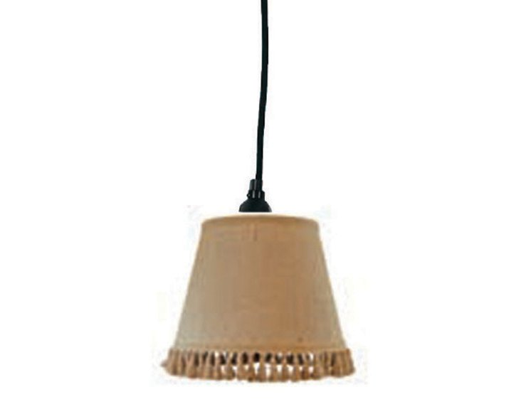 Natural Burlap Empire Pendant Shade