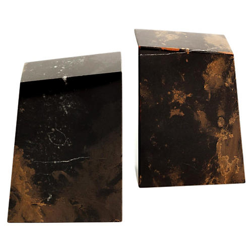 S/2 Marble Bookends