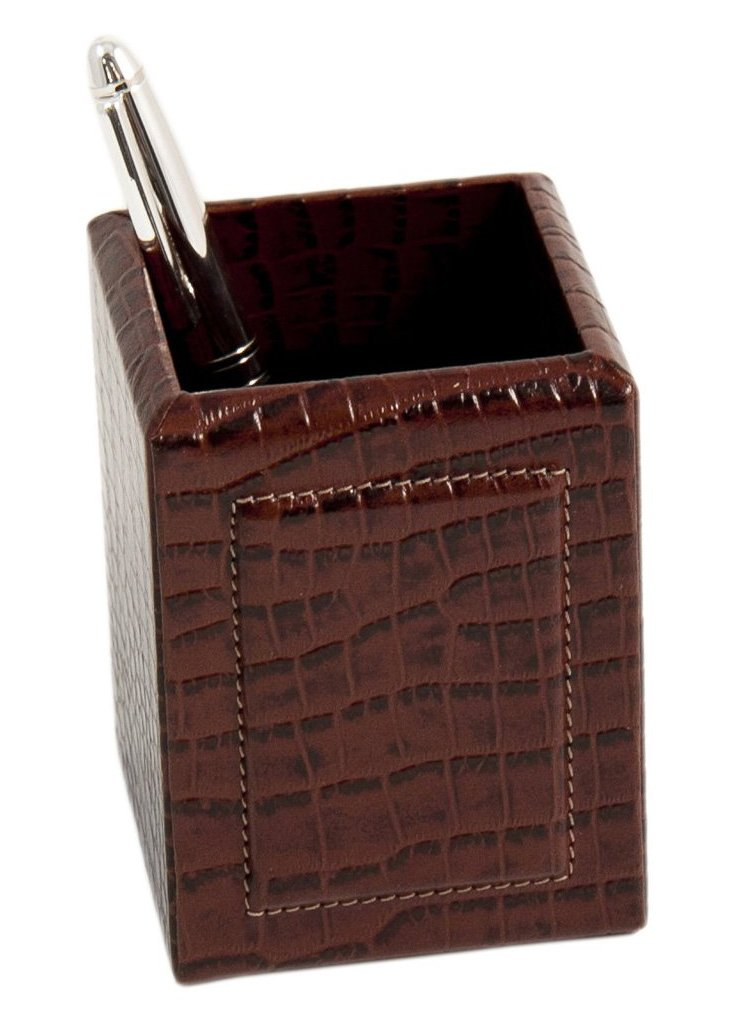 Leather Pencil Box, Brown