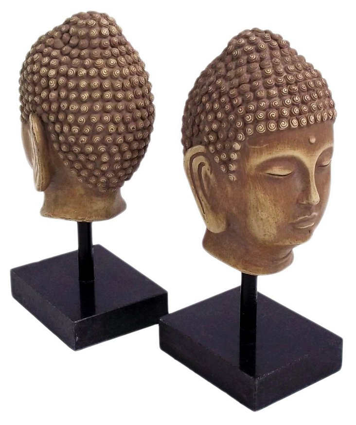 S/2 Buddha Bookends