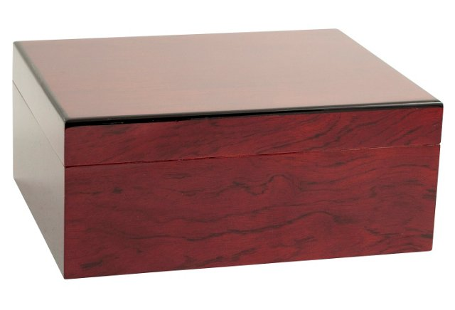 Humidor, Lacquered Cherry Wood