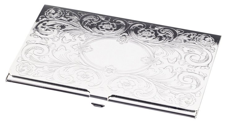 Filigree Business-Card Case, Silver