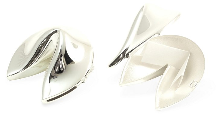 Silver-Plated Fortune-Cookie Box
