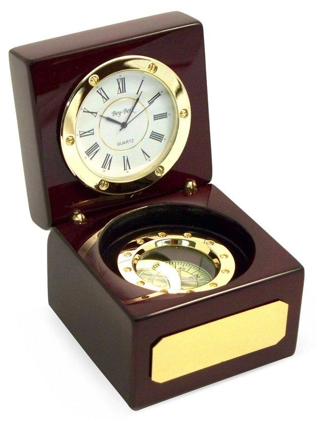 Compass and Clock Set