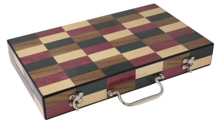 Backgammon Set, Brown