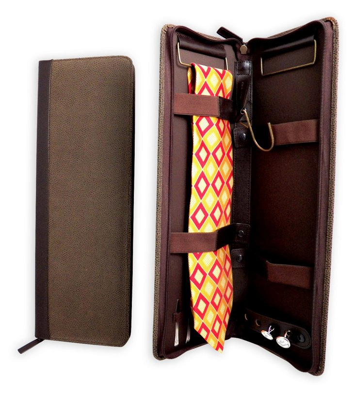 Leather Tie Case, Brown