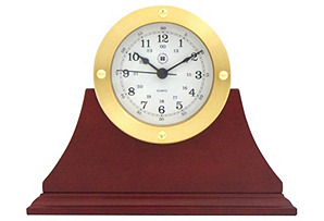 Quartz Desk Clock, Mahogany*