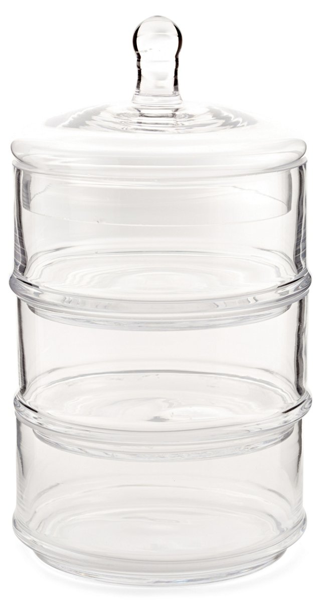 "16"" 3-Tier Glass Canister"