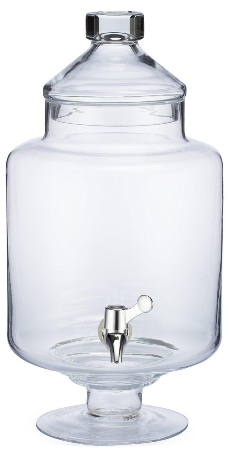 Footed Glass Beverage Dispenser