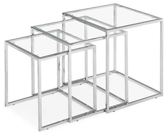 Silver Waits Nesting Table, Set of 3