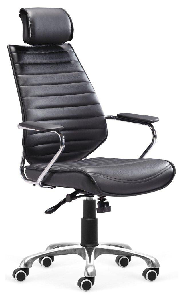 Keller High-Back Office Chair, Black