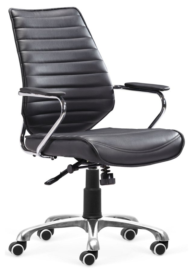 Keller Low-Back Office Chair, Black