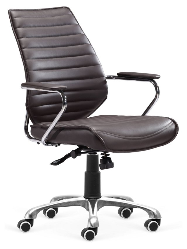 Keller Low-Back Office Chair, Espresso