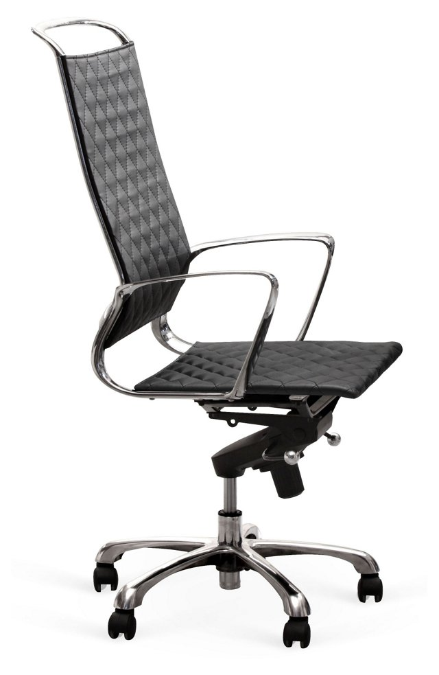 Warner High-Back Office Chair, Black