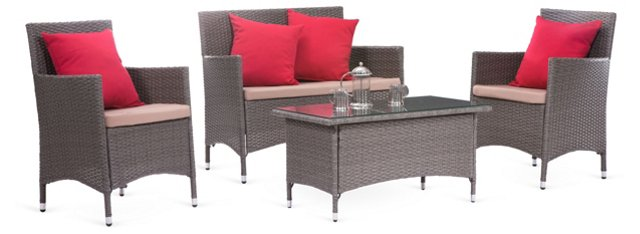 Stinson Beach Living Set, Gray