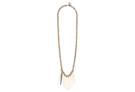 Sasi Necklace, White/Brass