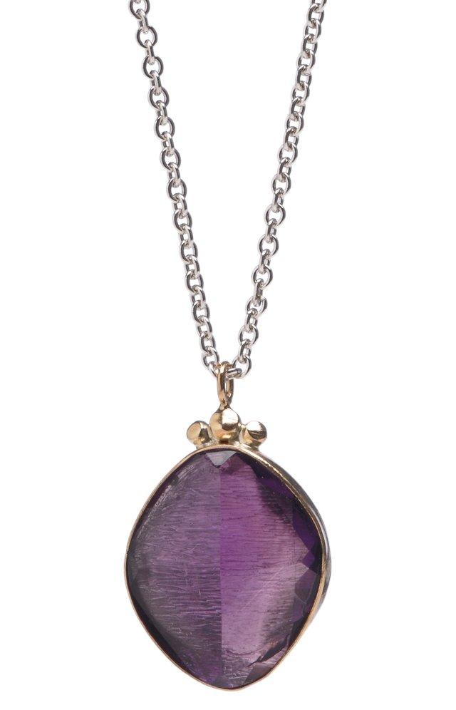 Rose-Cut Amethyst Necklace