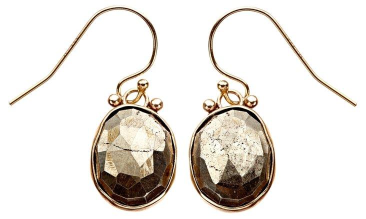 Sterling Silver Pyrite Earrings