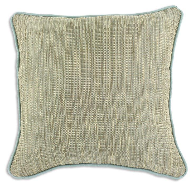 Wabi Sabi 17x17 Pillow, Light Blue