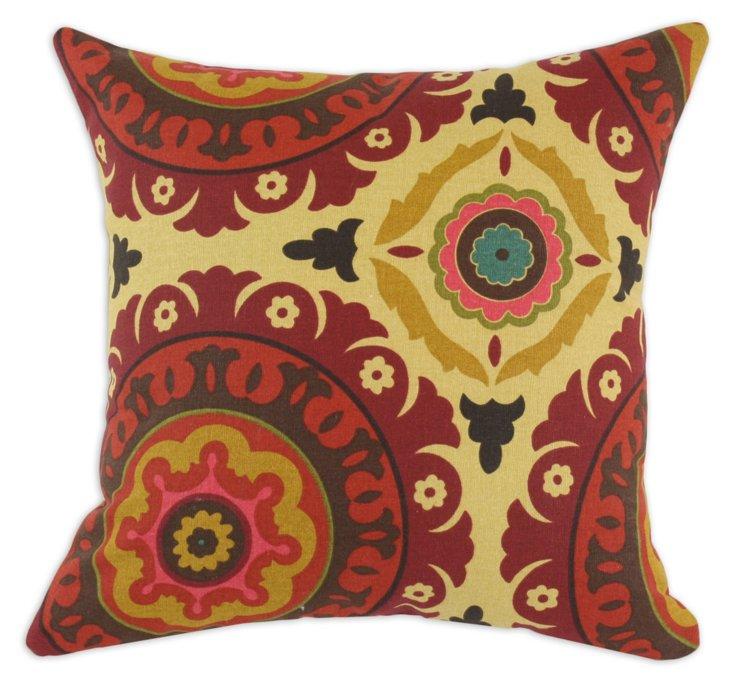 Solar 17x17 Pillow, Mustard