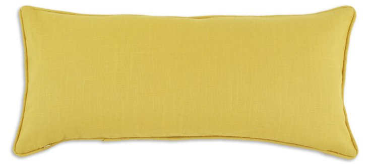 Pina 12x25 Linen Pillow, Yellow