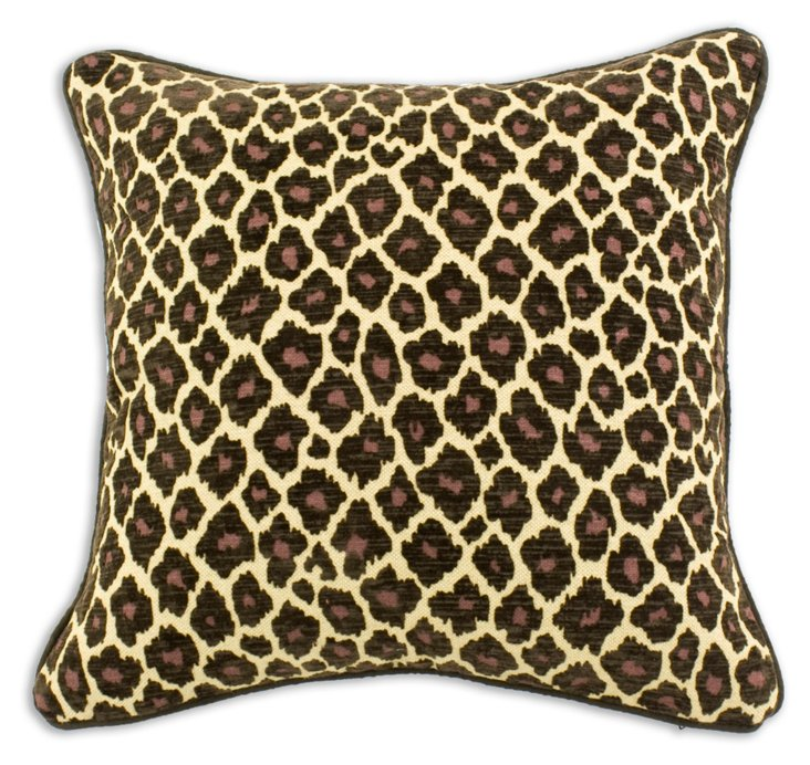 Simba 17x17 Pillow, Brown