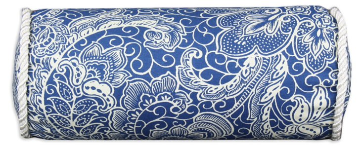 Mardi Gras 5x13 Bolster Pillow, Blue
