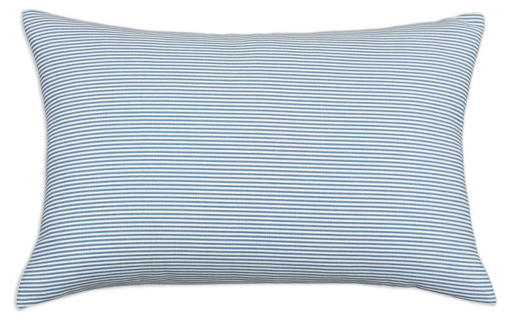 Oxford 12.5x19 Cotton Pillow, Blue