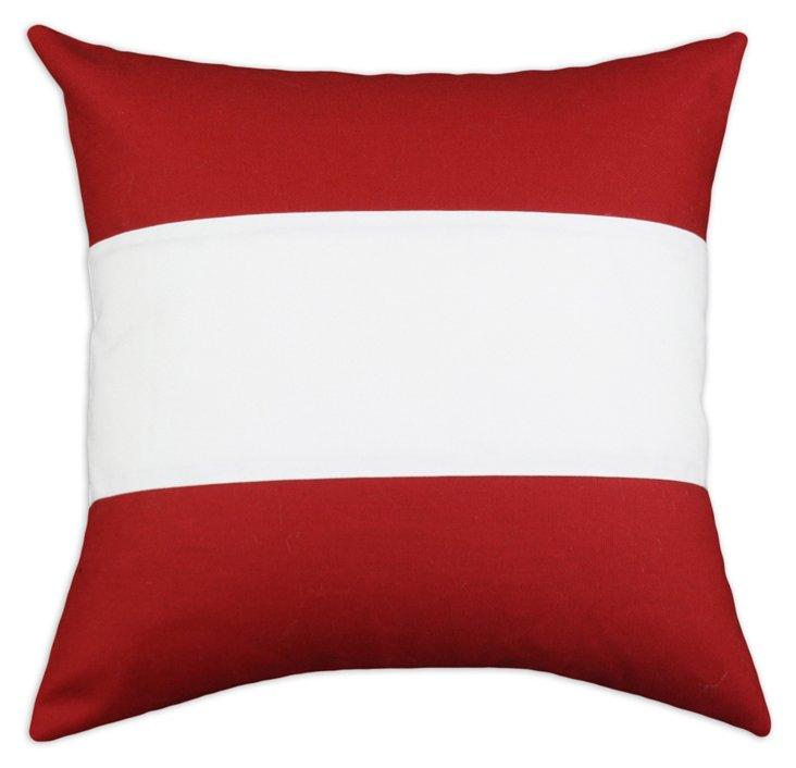Nile 17x17 Cotton Pillow, Poppy