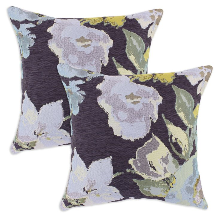 Set of 2 Adaption 17x17 Pillows, Purple