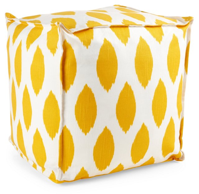 Kayla Pouf, Yellow/White