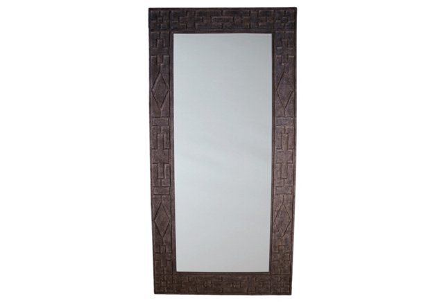 Belmont Floor Mirror, Charcoal