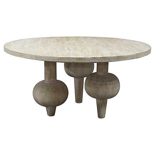 "Julie 60"" Round Dining Table, Unfinished"
