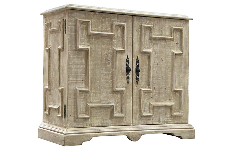 Reclaimed Gothic Cabinet, Graywash