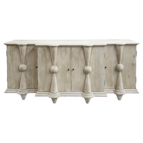 Reclaimed Salvia Sideboard, Unfinished