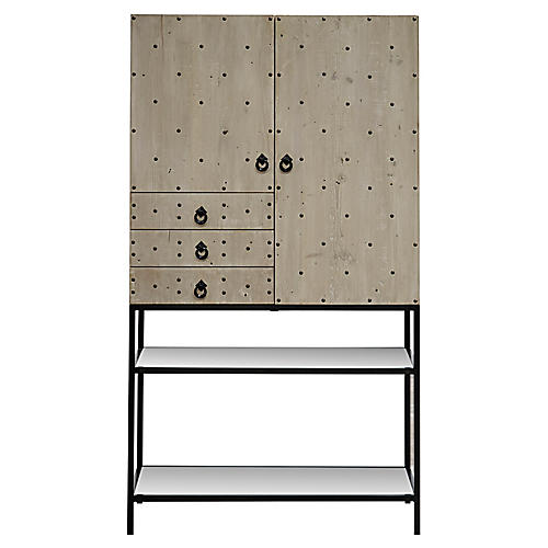 Lise Bar Cabinet, Graywash