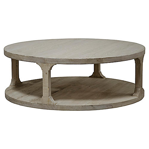 Gismo Round Coffee Table, Graywash
