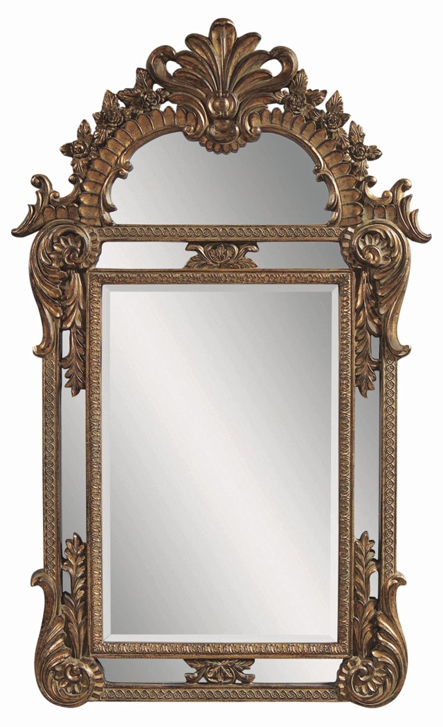 Villanueve Floor Mirror, Gold