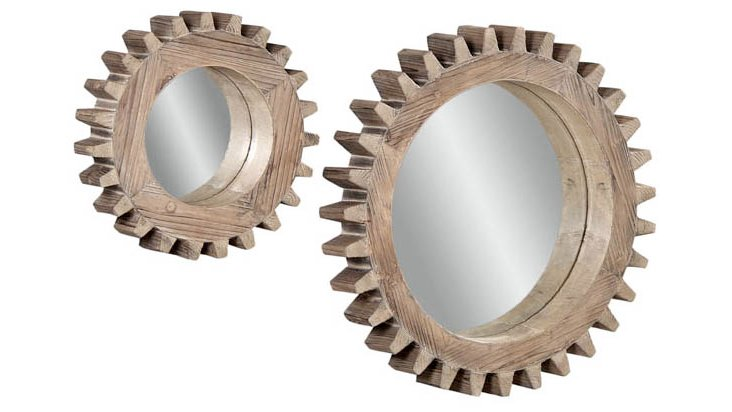 Clark Wall Mirrors Set, Natural