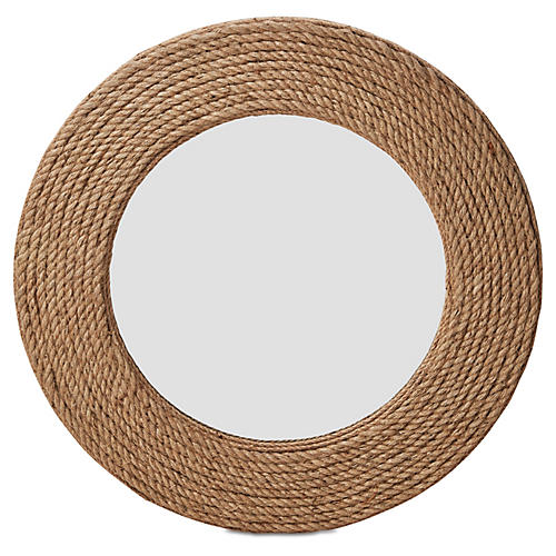 "Quincy 36"" Rope Wall Mirror, Natural"