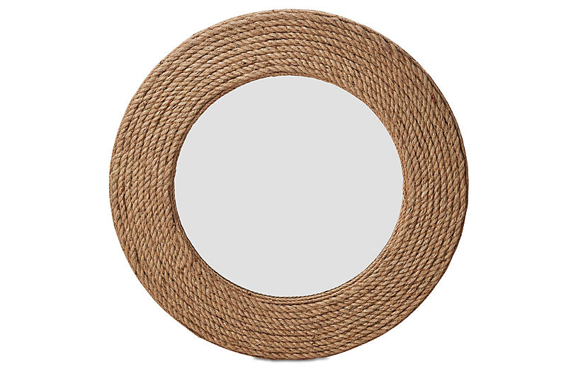 Quincy Rope Wall Mirror, Natural