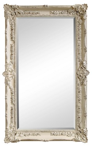 Rococo Floor Mirror, White - Floor Mirrors - Mirrors - Art & Mirrors ...