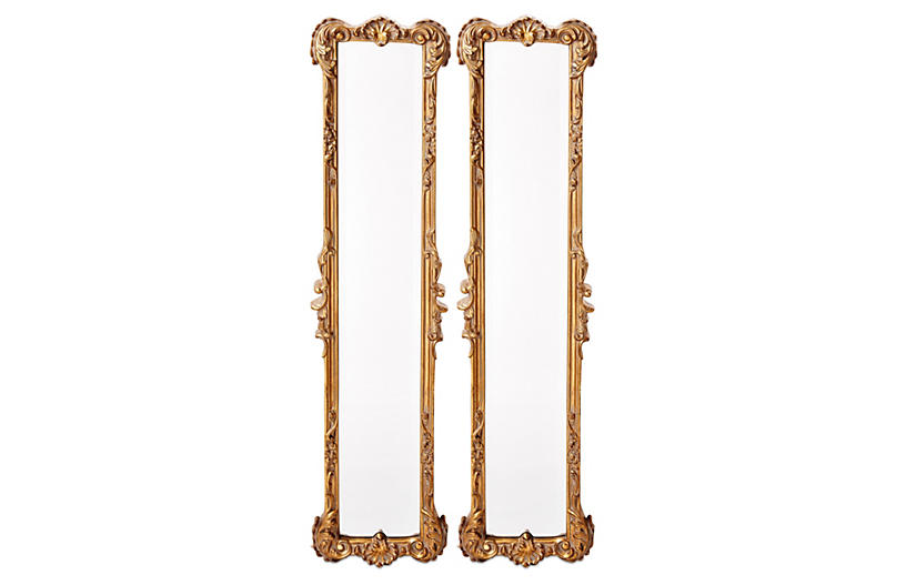 Ferrara Oversize Mirror Set, Gold Leaf